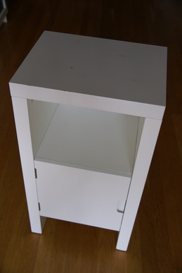 12 inches deep x 15 inches wide x 28 inches high top of the cabinet