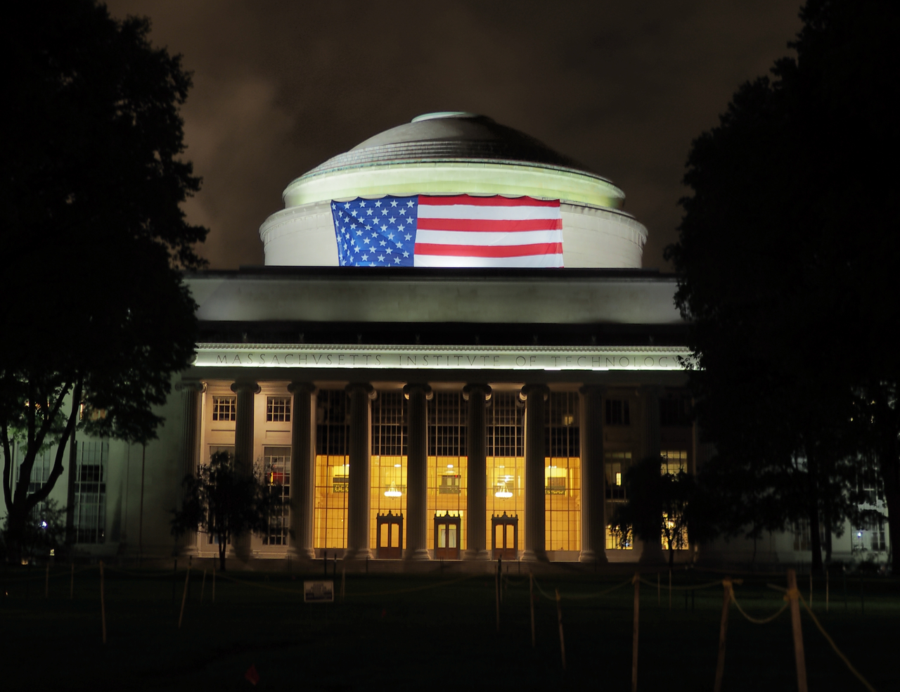 MIT Hack with US flag