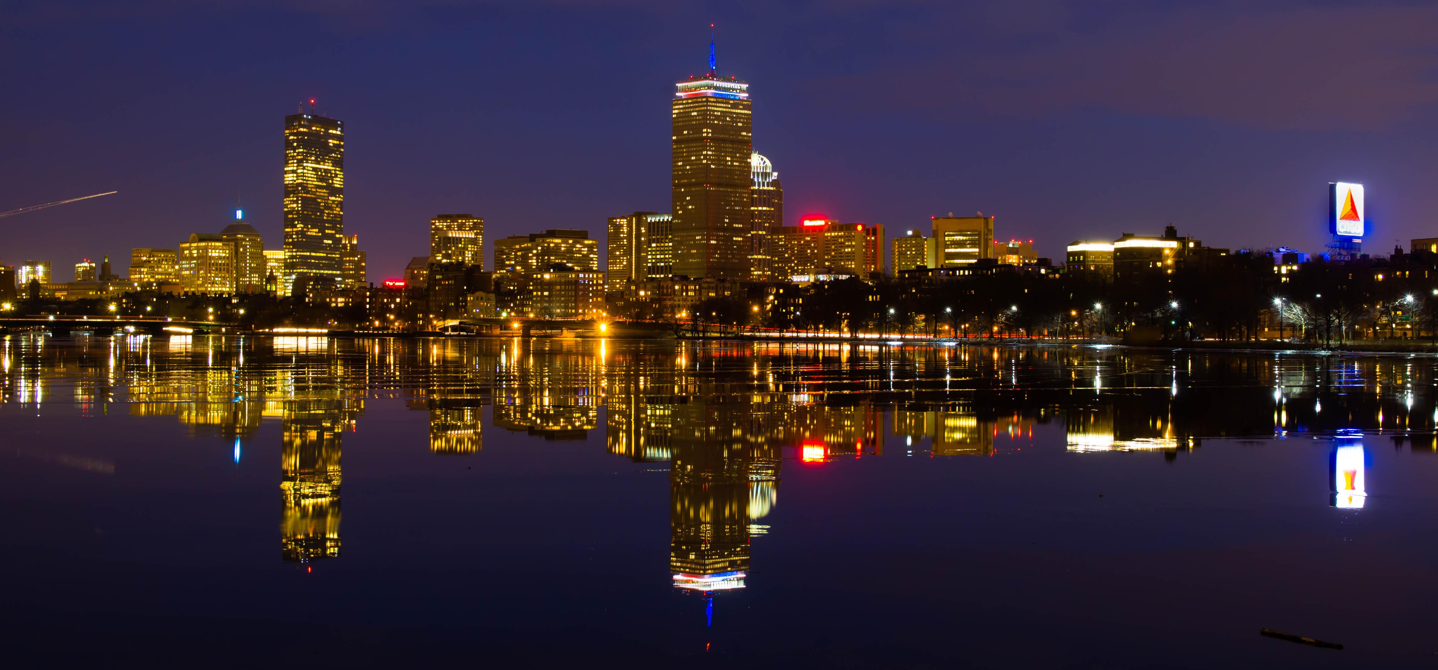 Boston in Purple