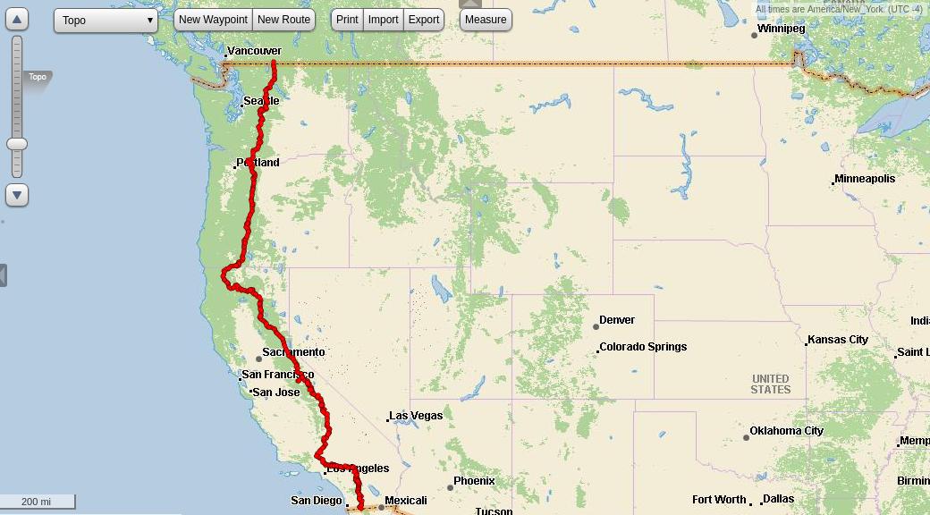 Pacific Crest Trail GPS Tracks for Garmin inReach - Julian ...