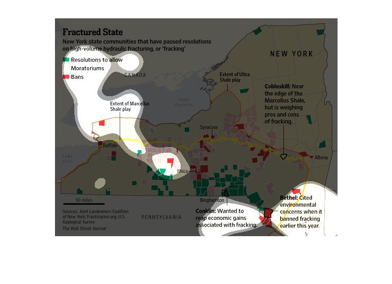 Fracking New York State Map.Plot Individual User Maps